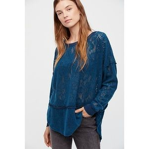 Free People Not Cold In This Top in Sapphire